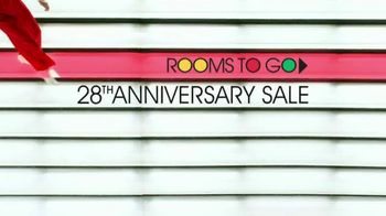 Rooms to Go 28th Anniversary Sale TV Spot, 'Anniversary Savings' Song by Portugal. The Man - Thumbnail 1