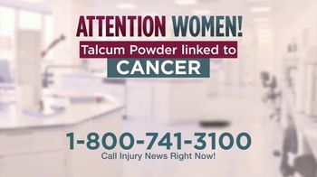 Injury News TV Spot, 'Talcum Powder Linked to Cancer' - Thumbnail 2