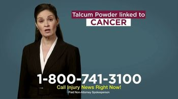 Injury News TV Spot, 'Talcum Powder Linked to Cancer'