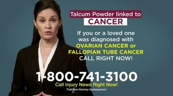 Injury News TV Spot, 'Talcum Powder Linked to Cancer' - Thumbnail 6
