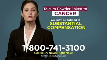 Injury News TV Spot, 'Talcum Powder Linked to Cancer' - Thumbnail 8