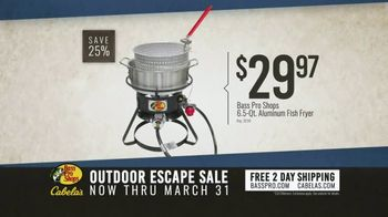 Bass Pro Shops Outdoor Escape Sale TV Spot, 'Fish Fryer and Chartplotter' - Thumbnail 3