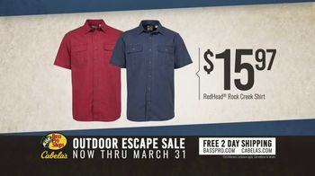 Bass Pro Shops Outdoor Escape Sale TV Spot, 'RedHead Shirts and Rugged Shark Shoes' - Thumbnail 5
