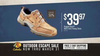 Bass Pro Shops Outdoor Escape Sale TV Spot, 'RedHead Shirts and Rugged Shark Shoes' - Thumbnail 6
