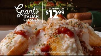 Olive Garden TV Spot, 'Giant Italian Classics: Biggest Classics Ever'