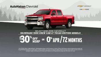 AutoNation Chevrolet Truck Month TV Spot, '2018 Silverado and 2019 Equinox'