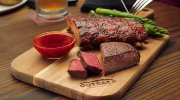 Outback Steakhouse Steak & Ribs TV Spot, 'Two Parts: Everyday Lunch Combo'