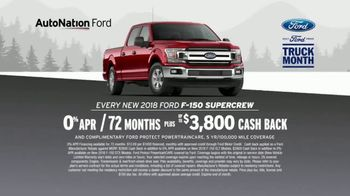 AutoNation Ford Truck Month TV Spot, '2018 F-150 SuperCrew' - Thumbnail 6
