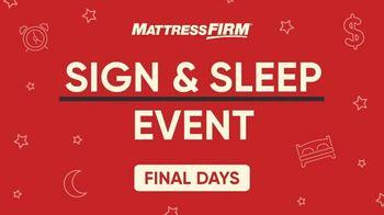 Mattress Firm Sign & Sleep Event TV Spot, 'Final Days: 0 Percent Interest' - Thumbnail 2