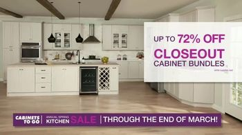 Cabinets To Go Annual Spring Kitchen Makeover Sale TV Spot, 'Extended: Free Kitchen Design' - Thumbnail 5