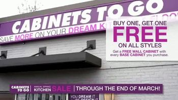 Cabinets To Go Annual Spring Kitchen Makeover Sale TV Spot, 'Extended: Free Kitchen Design' - Thumbnail 6