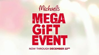 Michaels Mega Gift Event TV Spot, 'Holidays: 50% Off Creative Gifts'