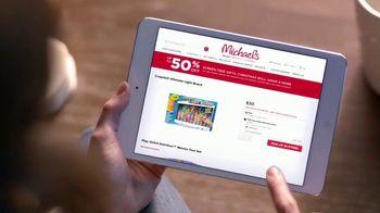 Michaels Mega Gift Event TV Spot, '2018 Holidays: 50 Percent Off Creative Gifts' - Thumbnail 1