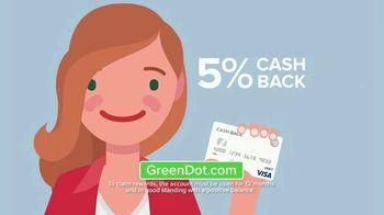 Green Dot 5 Percent Cash Back Visa Debit Card TV Spot, 'A New Kind of Bank' - Thumbnail 6