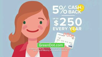 Green Dot 5 Percent Cash Back Visa Debit Card TV Spot, 'A New Kind of Bank' - Thumbnail 7
