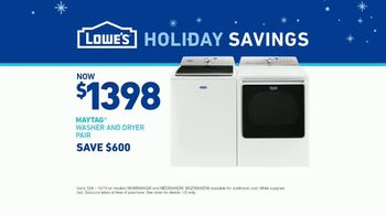 Lowe's Holiday Savings TV Spot, 'Maytag Washer and Dryer' - Thumbnail 7
