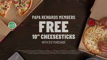 Papa Rewards TV Spot, 'Earn Points Faster: Free Cheesesticks' - Thumbnail 10