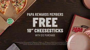 Papa Rewards TV Spot, 'Earn Points Faster: Free Cheesesticks' - Thumbnail 9