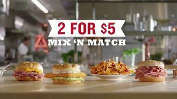Arby's 2 for $5 Mix 'n Match TV Spot, 'Anxiety' Featuring H. Jon Benjamin, Song by YOGI - 1378 commercial airings