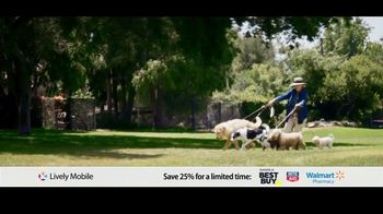 GreatCall Lively Mobile TV Spot, 'Mom Volunteers: 25% Off' - 396 commercial airings