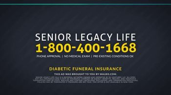 Senior Legacy Life Diabetic Funeral Insurance TV Spot, 'Type-Two Diabetes' - Thumbnail 7