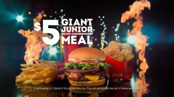 Wendy's $5 Giant Jr. Bacon Cheeseburger Meal TV Spot, 'Make the #1 Bacon Cheeseburger Giant!' - Thumbnail 10
