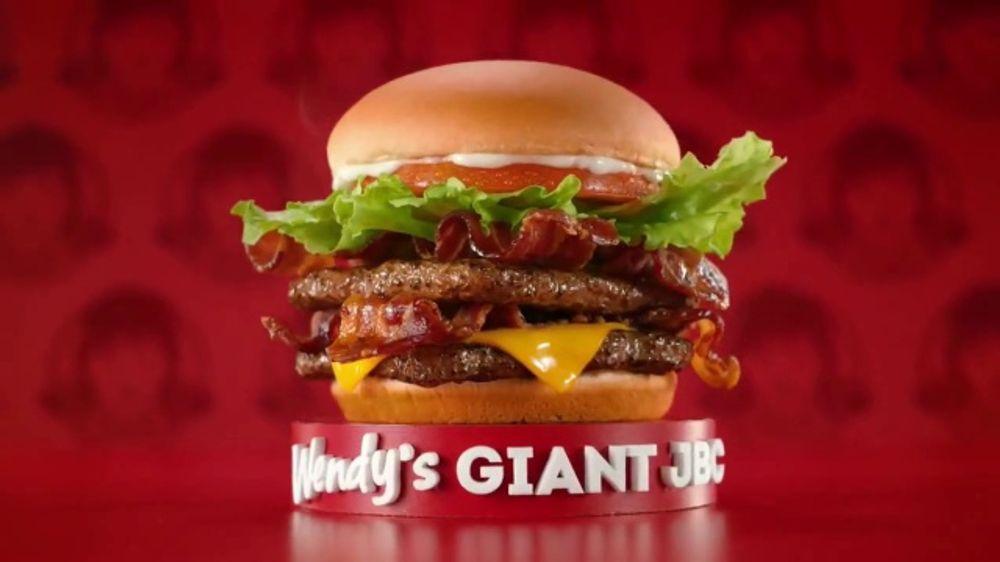 Wendy S Giant Jr Bacon Cheeseburger Meal Tv Commercial Disfruta Mas En Wendy S Ispot Tv