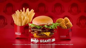 Wendy's Giant Jr. Bacon Cheeseburger Meal TV Spot, 'Disfruta más' [Spanish] - Thumbnail 5