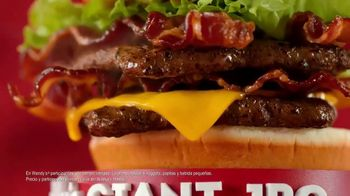 Wendy's Giant Jr. Bacon Cheeseburger Meal TV Spot, 'Disfruta más' [Spanish] - Thumbnail 7