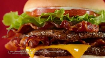 Wendy's Giant Jr. Bacon Cheeseburger Meal TV Spot, 'Disfruta más' [Spanish] - Thumbnail 8