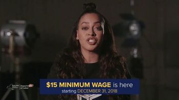 New York State Department of Labor TV Spot, '$15 Minimum Wage Is Here' Featuring La La Anthony