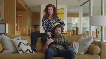 Sling TV Spot, 'Statue: Discovery' Featuring Nick Offerman, Megan Mullally - Thumbnail 1