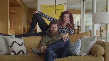 Sling TV Spot, 'Statue: Discovery' Featuring Nick Offerman, Megan Mullally - Thumbnail 8