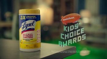 Lysol Disinfecting Wipes TV Spot, 'Nickelodeon Kids' Choice Awards Party' - Thumbnail 9