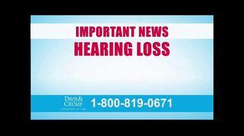 Davis & Crump, P.C. TV Spot, 'Military Tinnitus' - Thumbnail 1