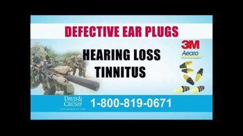 Davis & Crump, P.C. TV Spot, 'Military Tinnitus'