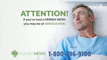Injury News TV Spot, 'Hernia Mesh Implant'