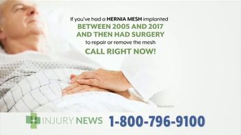 Injury News TV Spot, 'Hernia Mesh Implant' - Thumbnail 4