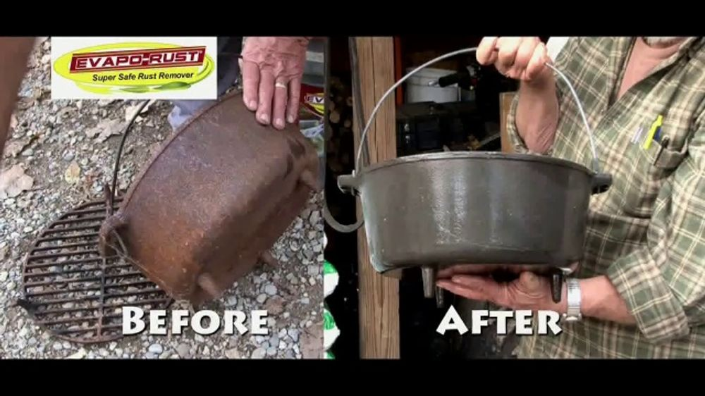 Evapo Rust Tv Commercial What S Cast Iron Cooking Promo