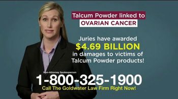 Goldwater Law Firm TV Spot, 'Talcum Powder: Over Four Billion' - Thumbnail 4