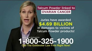 Goldwater Law Firm TV Spot, 'Talcum Powder: Over Four Billion' - Thumbnail 6