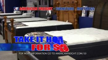 American Freight Mattress Blowout TV Spot, 'Dream Sleep and Resort Gold' - Thumbnail 8
