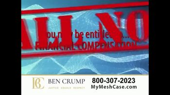 Ben Crump Law TV Spot, 'Hernia Surgery' - Thumbnail 3