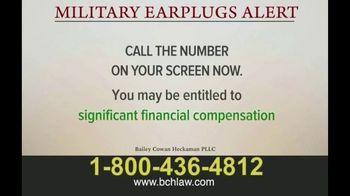 Bailey Peavy Bailey Cowan Heckaman, PLLC TV Spot, 'Military Earplugs Alert' - Thumbnail 2