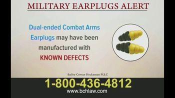 Bailey Peavy Bailey Cowan Heckaman, PLLC TV Spot, 'Military Earplugs Alert' - Thumbnail 3