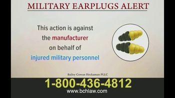 Bailey Peavy Bailey Cowan Heckaman, PLLC TV Spot, 'Military Earplugs Alert' - Thumbnail 4