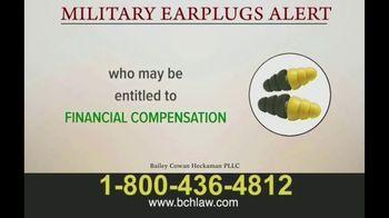 Bailey Peavy Bailey Cowan Heckaman, PLLC TV Spot, 'Military Earplugs Alert' - Thumbnail 5