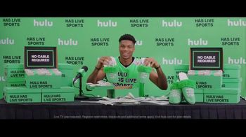 Hulu With Live TV TV Spot, 'Hulu Has Live Sports: Slippers' Featuring Giannis Antetokounmpo - 890 commercial airings