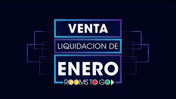 Rooms to Go Venta y Liquidación de Enero TV Spot, 'Camas de cinco piezas' [Spanish] - Thumbnail 1