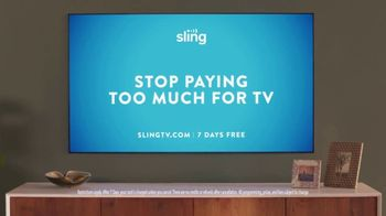 Sling TV Spot, 'Statue: Seven Days Free' Featuring Nick Offerman, Megan Mullally - Thumbnail 9